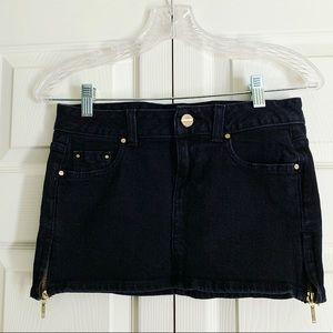 🧚🏿♀️NEW✨Guess Jean black micro-mini denim skirt